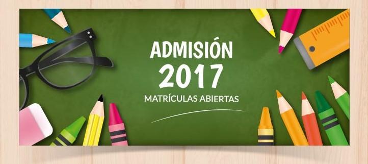 Admisión para elcurso 2017-2018